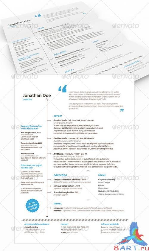 GraphicRiver Get Minimal - Resume 02