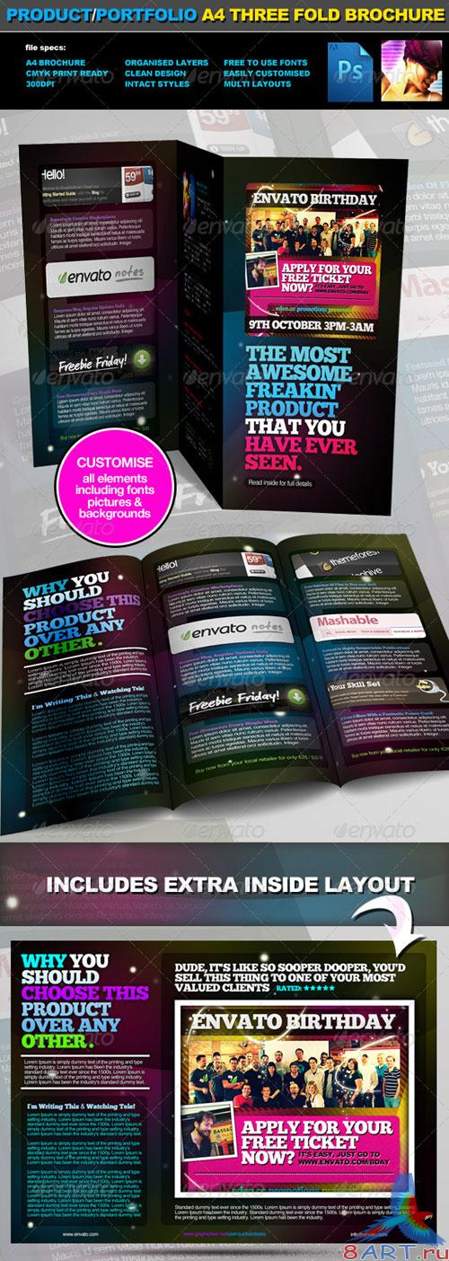 Portfolio A4 Three Fold Brochure Layout