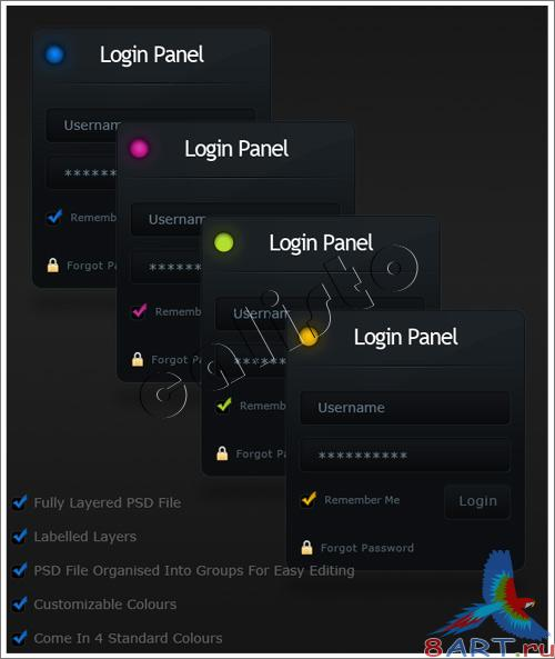 Clean Login Panel - GraphicRiver