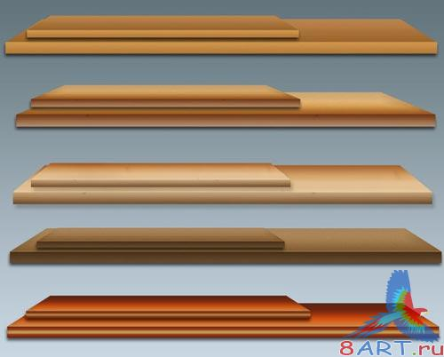 Deluxe Wooden Shelves Pack