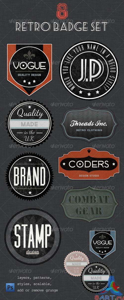 GraphicRiver - Retro Badges - Faded Vintage Labels