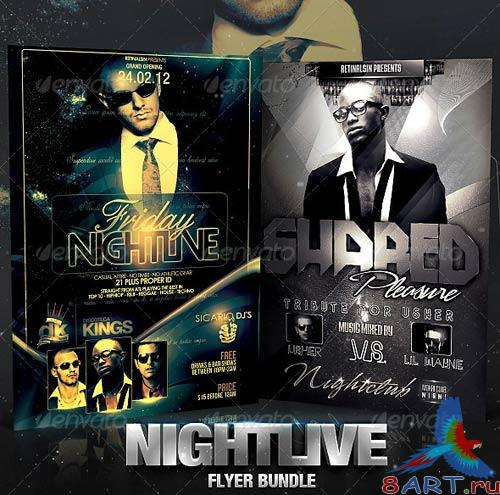 GraphicRiver Nightlive Flyer Bundle