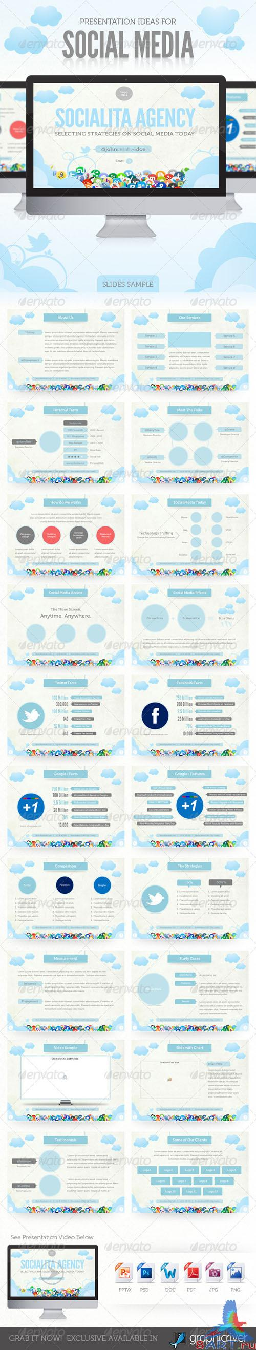 GraphicRiver - Social Media Presentation Template 428939