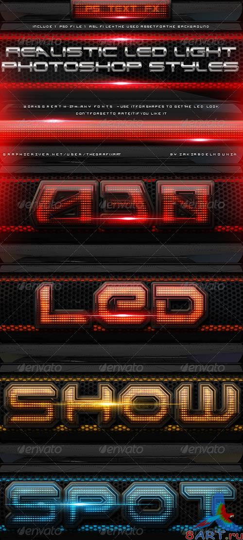 GraphicRiver Led Light Layer Styles