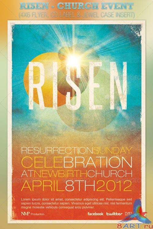 GraphicRiver Risen Church Event Flyer and CD Template