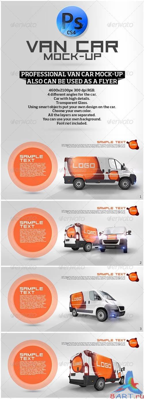 GraphicRiver Van Car Mock-Up