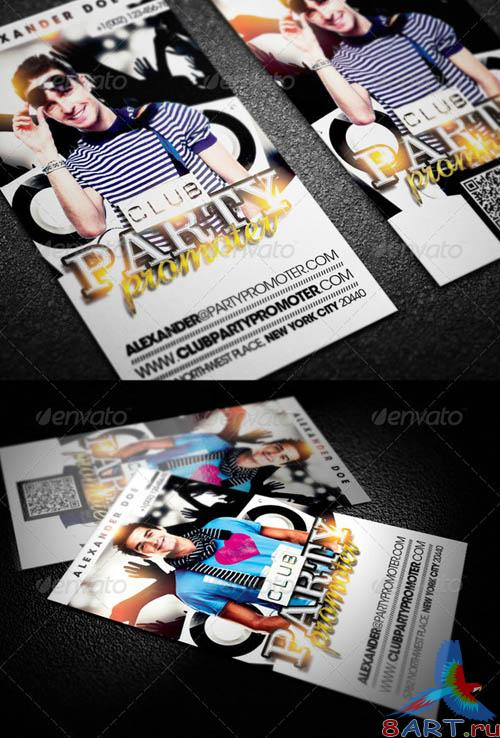GraphicRiver Club Party Promoter Business Card