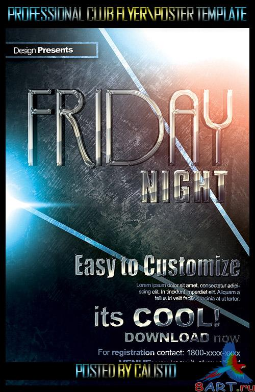 Friday Night Flyer/Poster Template