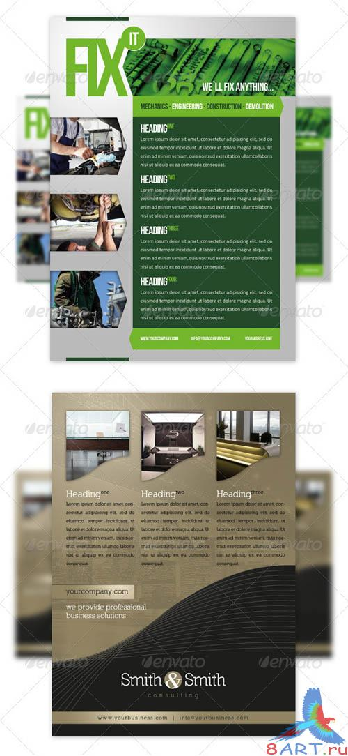 GraphicRiver RW Essential Business Flyer Bundle Vol 17