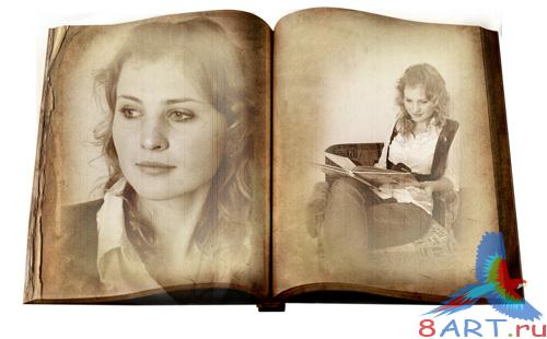 PSD - Old Photo Book