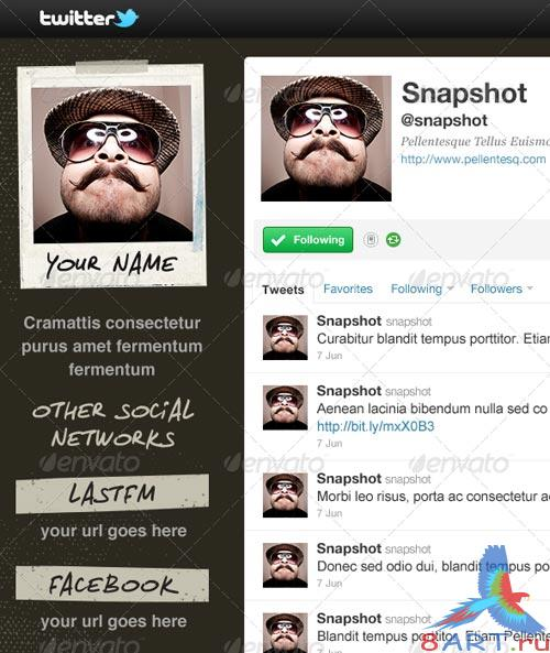 GraphicRiver Snapshot - Twitter Background