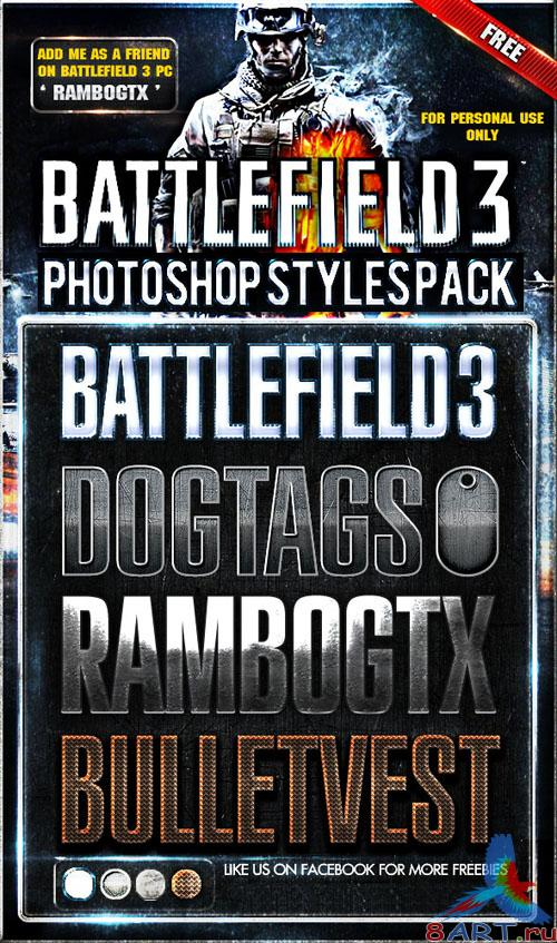 Battlefield Photoshop Styles Pack
