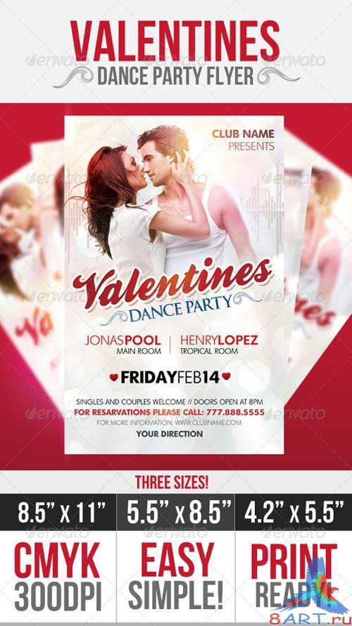 GraphicRiver Valentines Dance Party Flyer