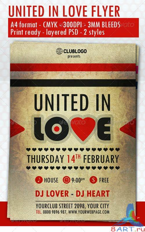 GraphicRiver United In Love Flyer