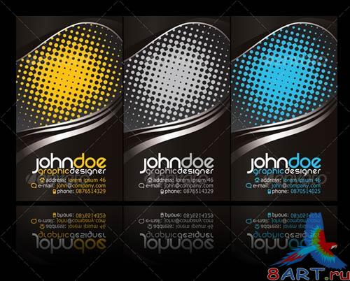 GraphicRiver Black modern business card
