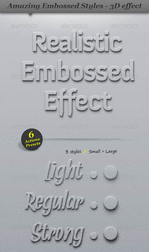 GraphicRiver Embossed Style Effect - 3D Clean Shadow