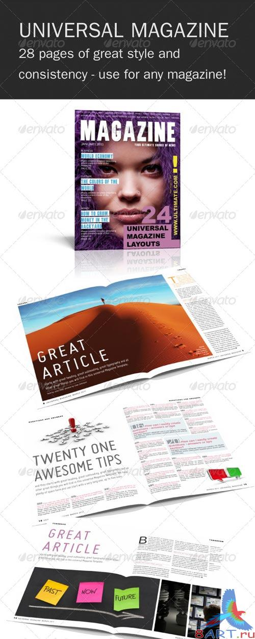 GraphicRiver Universal InDesign Magazine Template