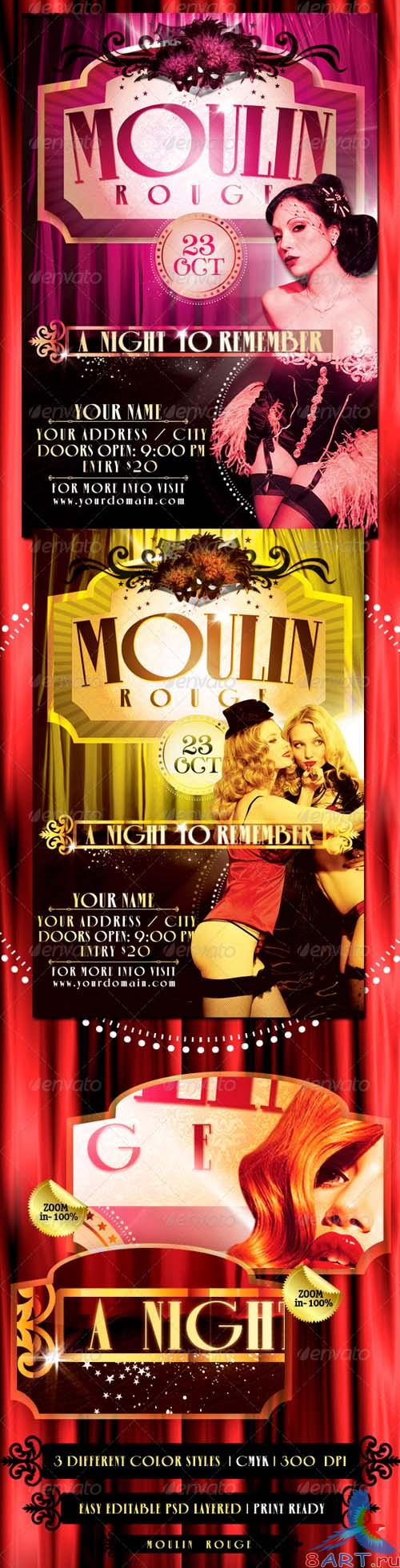 Graphicriver The Moulin Rouge Flyer Template - REUPLOAD