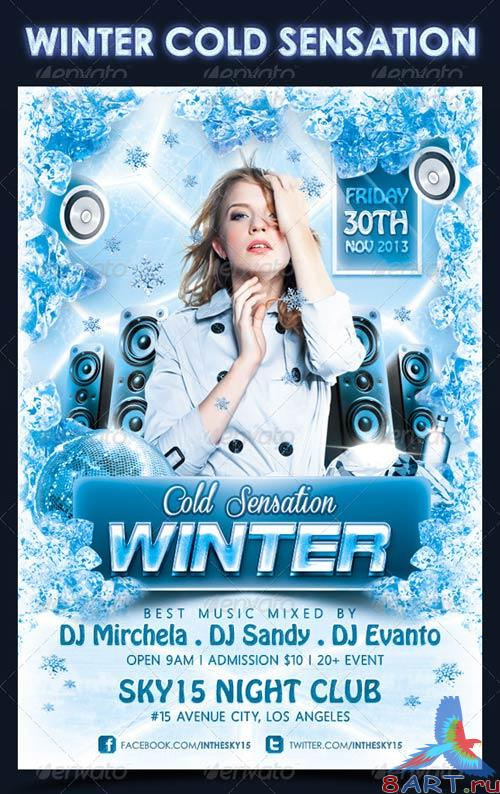 GraphicRiver Winter Cold Sensation Flyer Template
