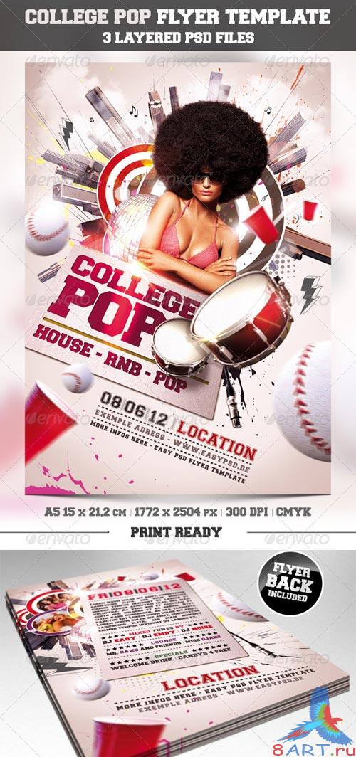 GraphicRiver College Pop Flyer Template