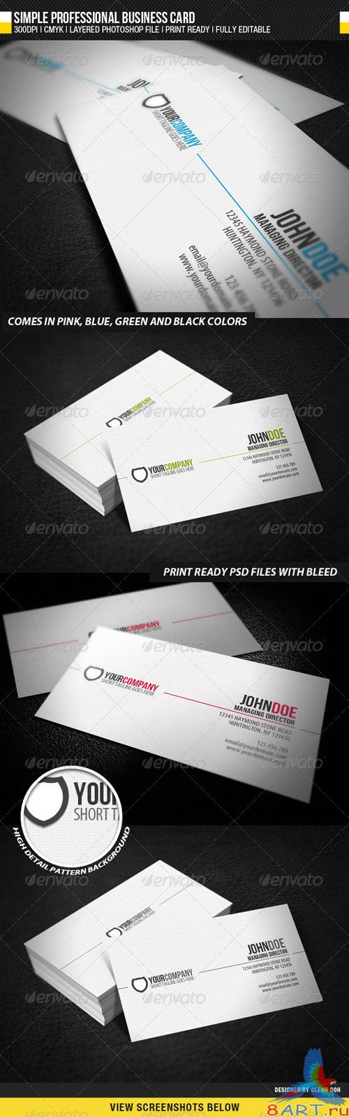 GraphicRiver Simple Professional Business Card - REUPLOAD