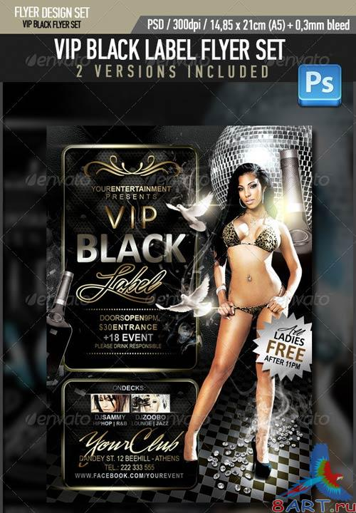 GraphicRiver VIP Black Label Flyer