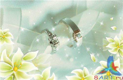 PSD - Rings with flowers