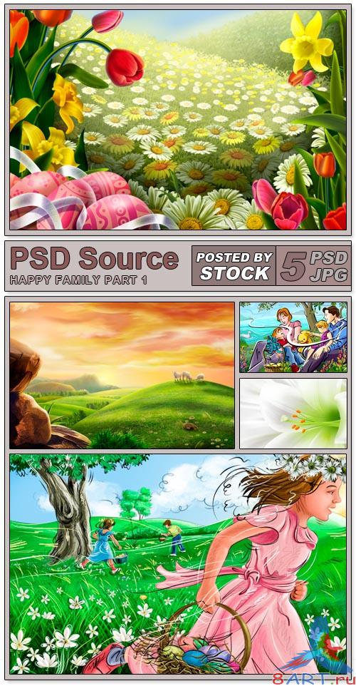 PSD Source - Happy Family (PART 1)