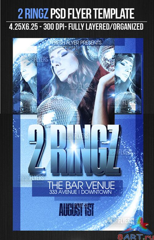 2 Ringz Flyer/Poster PSD Template