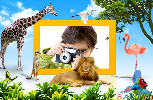 PSD Frame - Young photographer