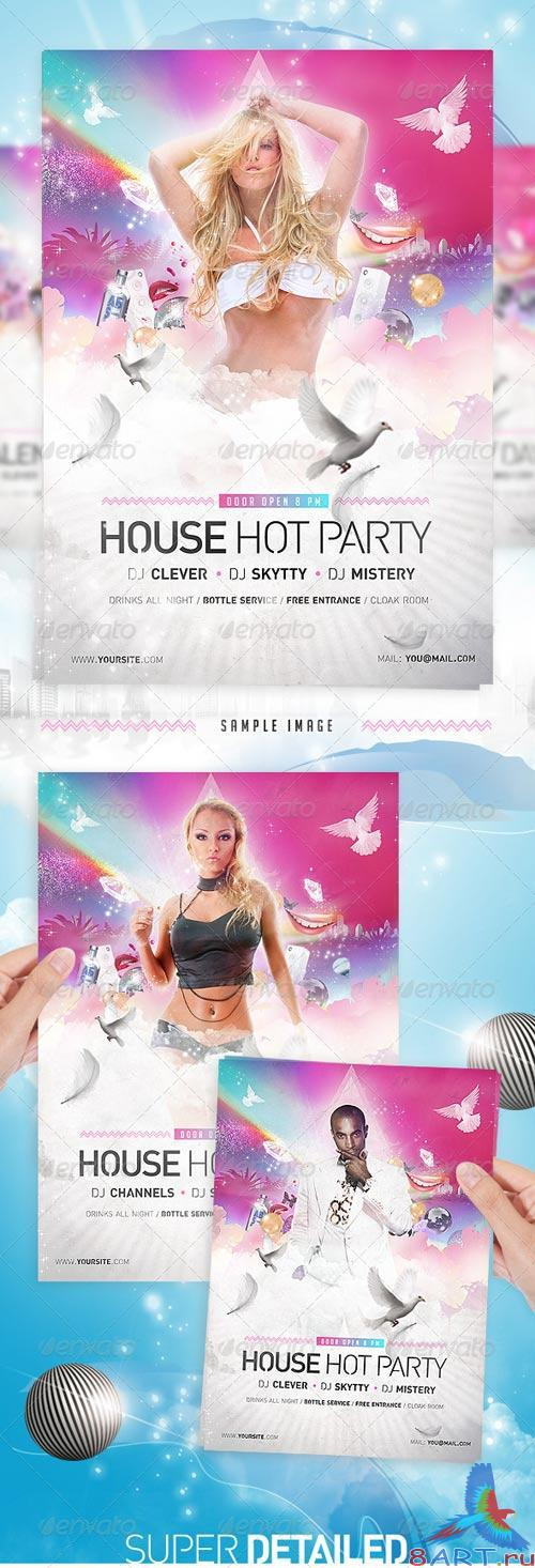 GraphicRiver House Party Disco Flyer Template