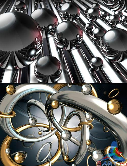 PSD - Metall Chromed Balls and Rings