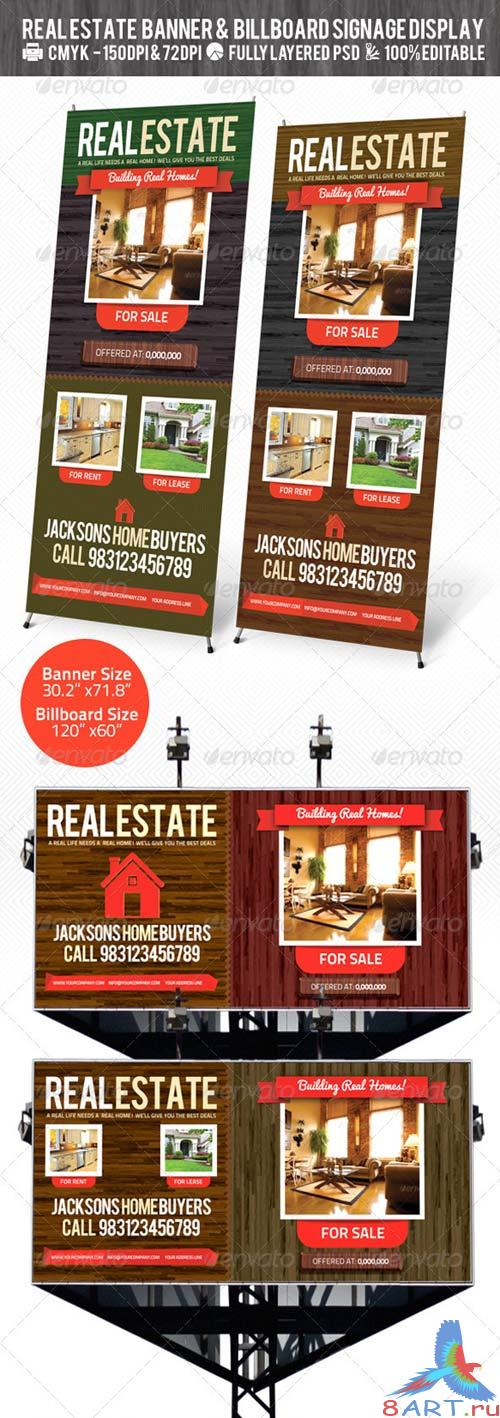 GraphicRiver Real Estate Outdoor Banner & Billboard Signage PSD