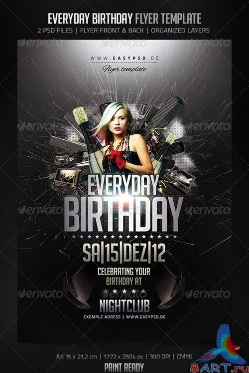 GraphicRiver Everyday Birthday Flyer