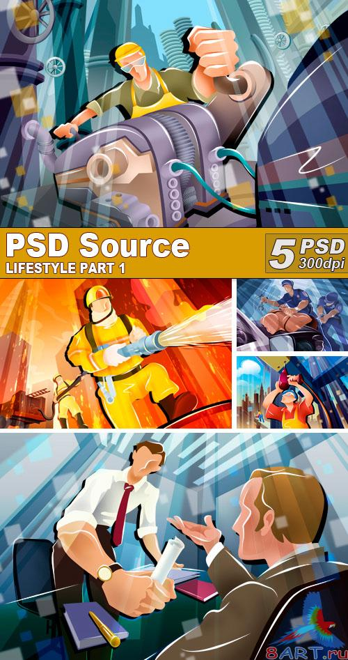 PSD Illustrations - Lifestyle 1