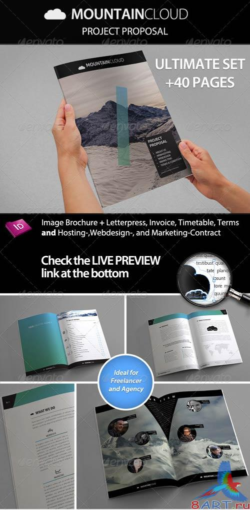 GraphicRiver Mountain Cloud - Proposal with Contract & Invoice
