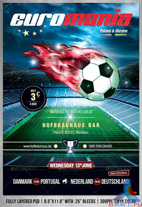 GraphicRiver - EuroMania Football (Soccer) Poster/Flyer 2333032