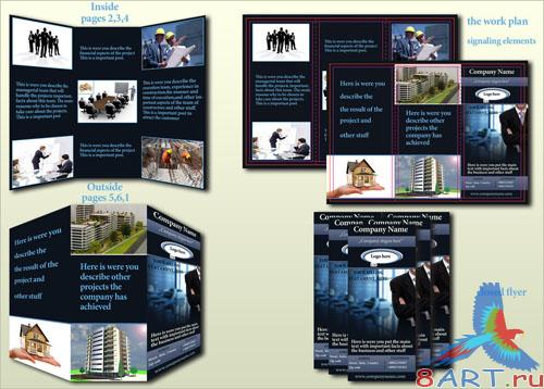 PSD Template - Real Estate Flyer - 3 pag (front/back)