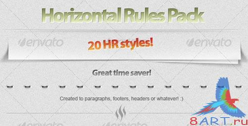 GraphicRiver 20 Horizontal Rule (HR) styles!