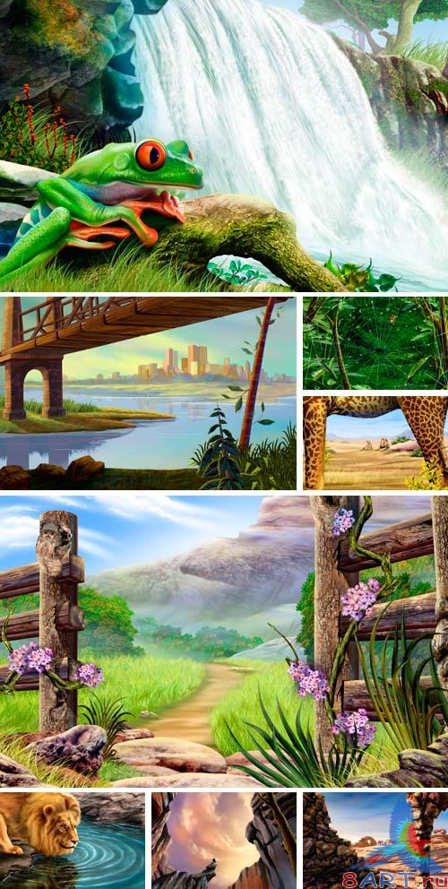 PSD Illustrations - nature 11