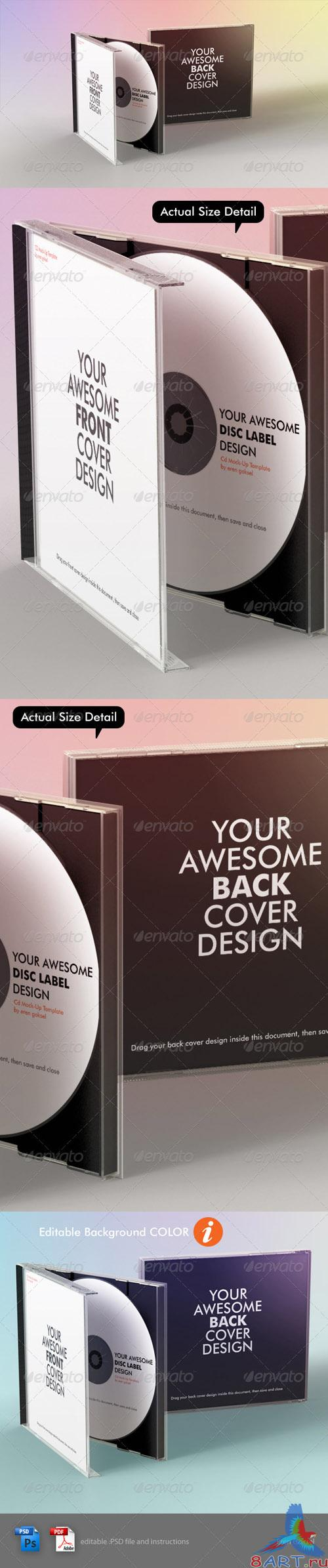 GraphicRiver Realistic CD Mock-Up Template - REUPLOAD