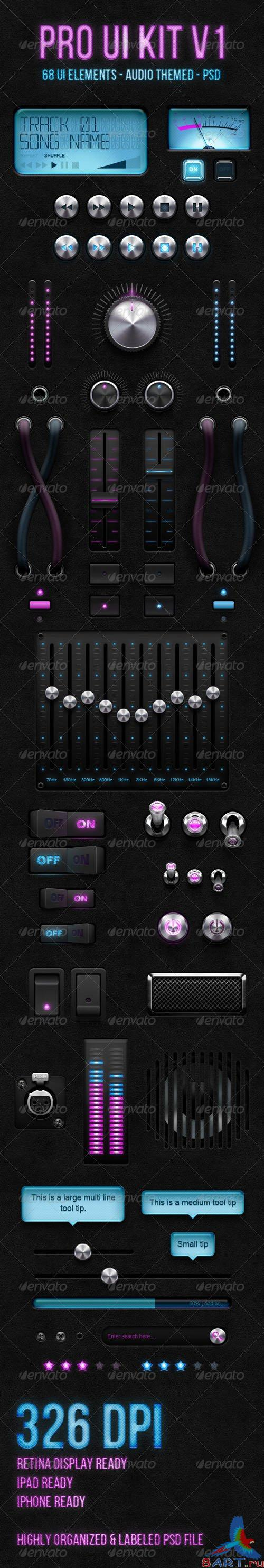 GraphicRiver - Audio Pro UI Kit V1 - 762079