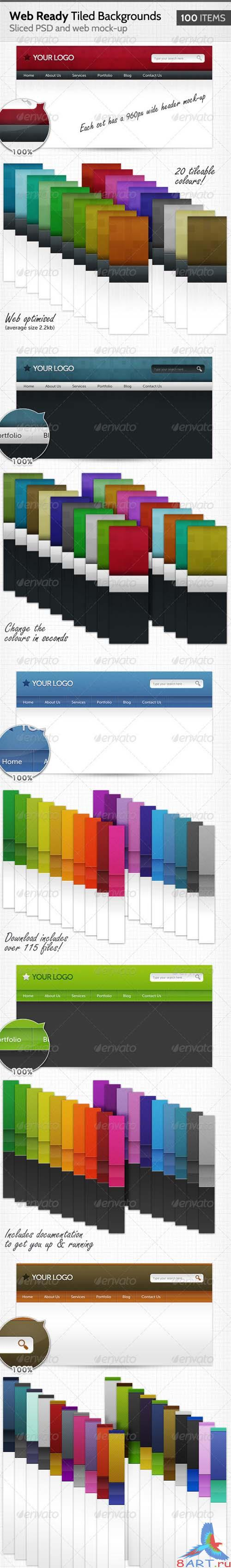GraphicRiver 100 Web Ready Tiled Backgrounds - REUPLOAD
