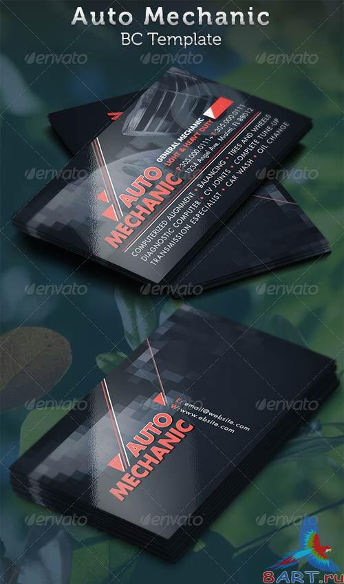GraphicRiver Auto Mechanic Business Card Template