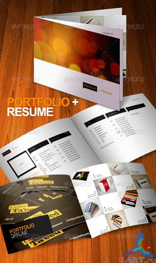 GraphicRiver 8 Pages Portfolio Resume Brochure