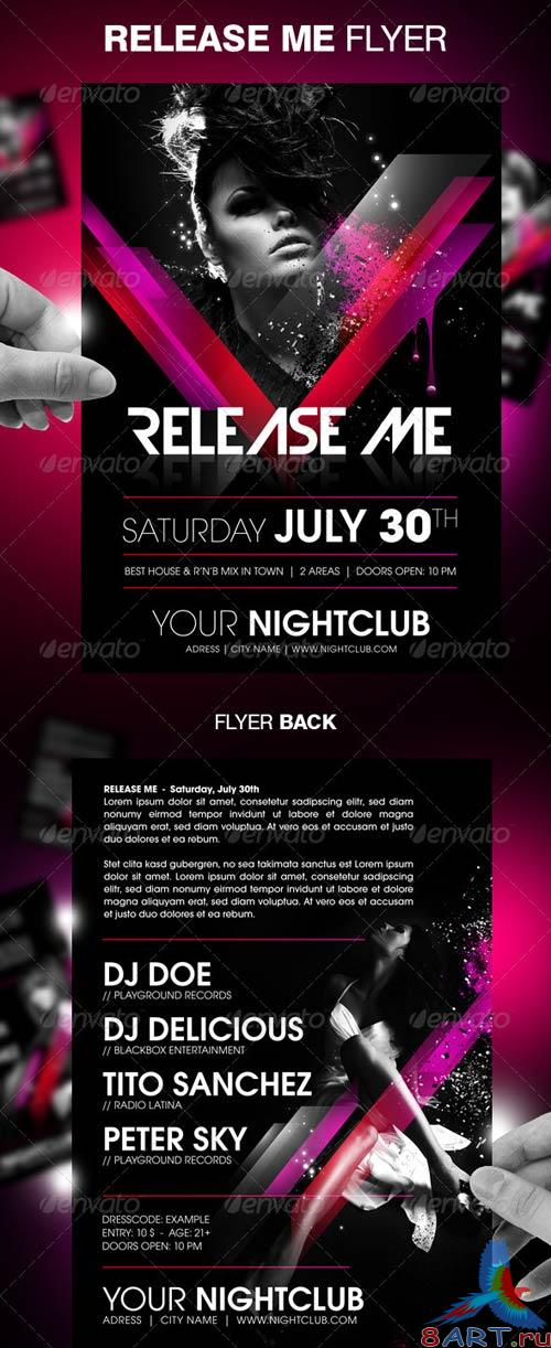 GraphicRiver Release Me Party Flyer Template