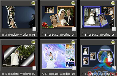 Atmosphere Studio Photo Album Templates - Wedding vol. 2