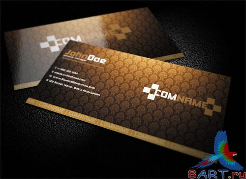 PSD Template - Golden Business Card