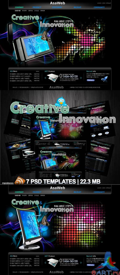 Creative innovation Templates PSD Nr.154