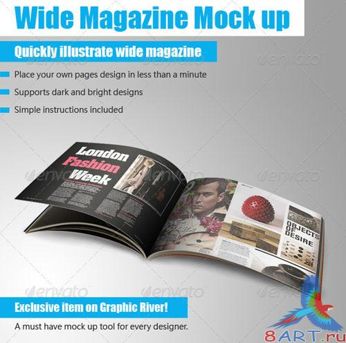 GraphicRiver - Wide Magazine Mock up 249810